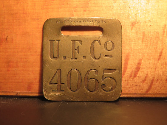 UFCO Brass Luggage Tag 4065