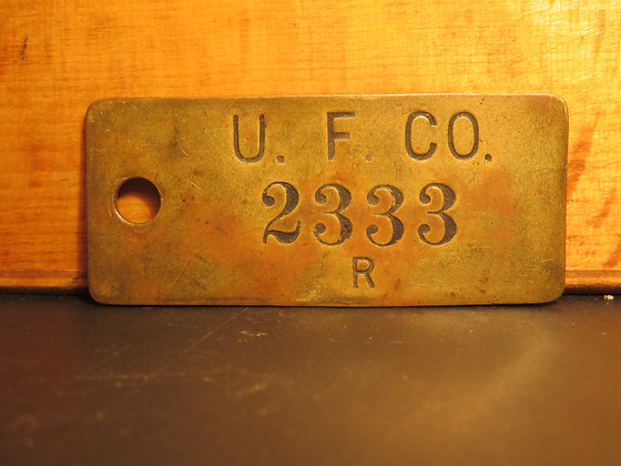 UFCO Brass Inventory Tag 2333