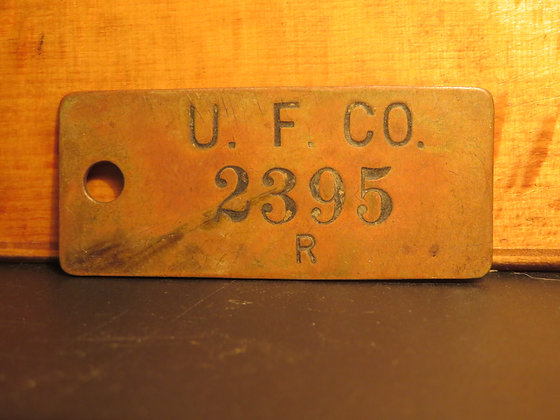 UFCO Brass Inventory Tag  2395
