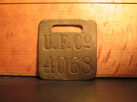 UFCO Brass Luggage Tag 4068