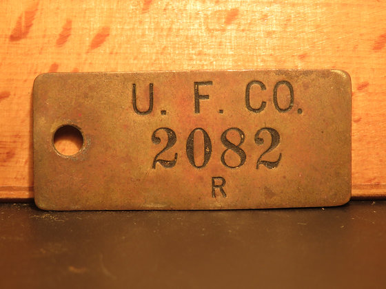 UFCO Brass Inventory Tag  2082