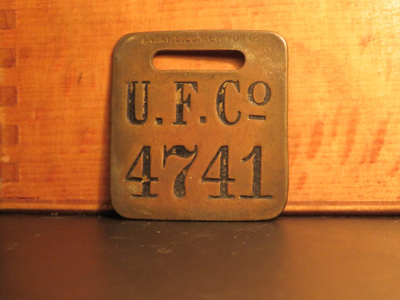 UFCO Brass Luggage Tag 4741