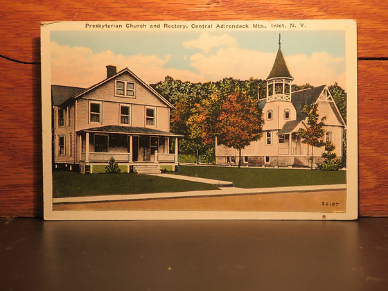 Presbyterian church and Rectory, Central Adirondack Mts., Inlet New York