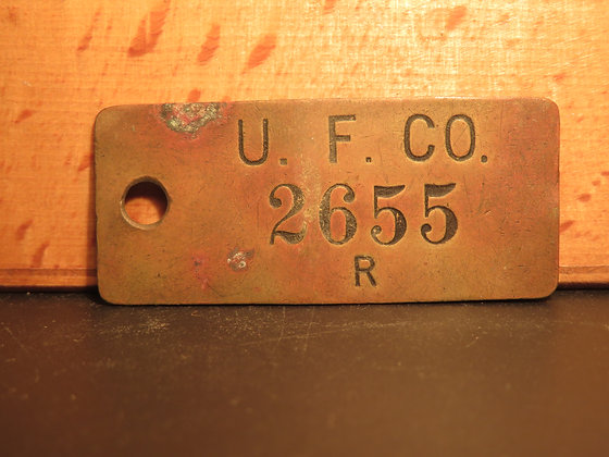 UFCO Brass Inventory Tag 2655