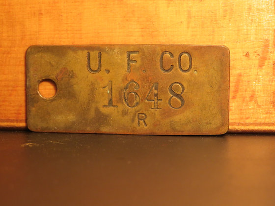 UFCO Brass Inventory Tag 1648