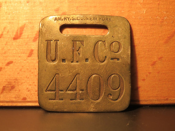 UFCO Brass Luggage Tag 4409