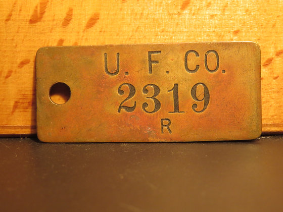 UFCO Brass Inventory Tag 2319