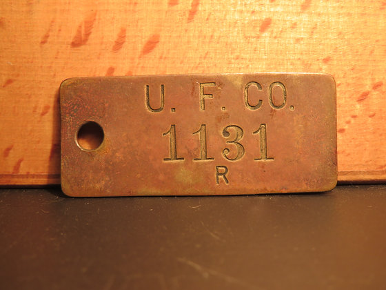 Brass Inventory Tag 1131