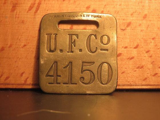 UFCO Brass Luggage Tag F4150