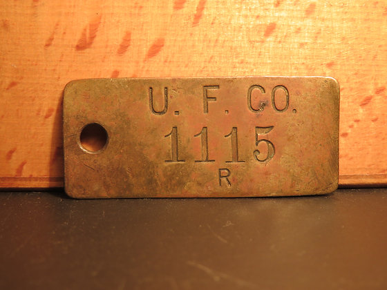 Brass Inventory Tag 1115