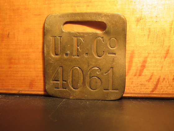UFCO Brass Luggage Tag 4061
