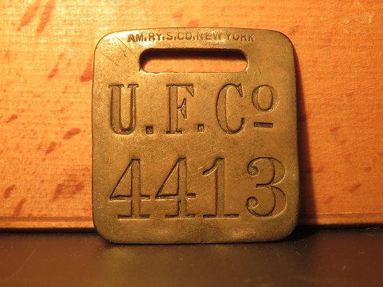 UFCO Brass Luggage Tag 4413