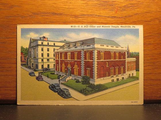 U. S. Post Office and Masonic Temple, Meadville, Pennsylvania
