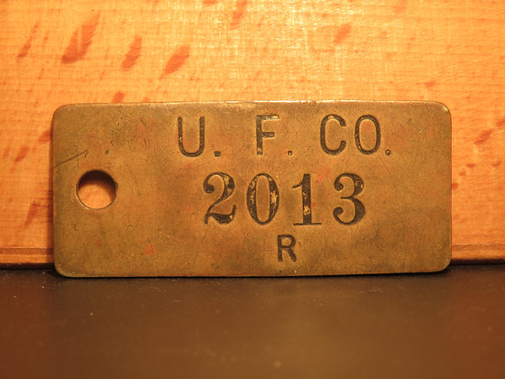 UFCO Brass Inventory Tag  2013