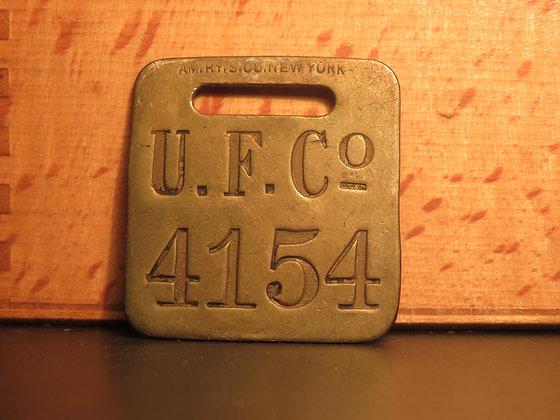 UFCO Brass Luggage Tag F4154