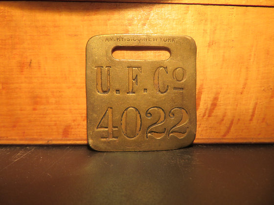 UFCO Brass Luggage Tag 4022
