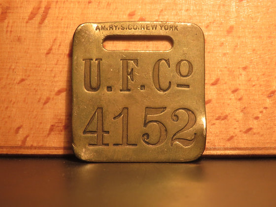 UFCO Brass Luggage Tag F4152