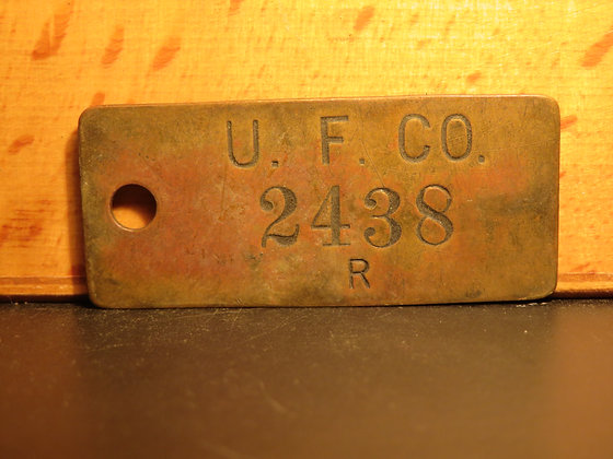 UFCO Brass Inventory Tag 2438
