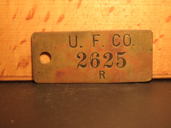 UFCO Brass Inventory Tag 2625
