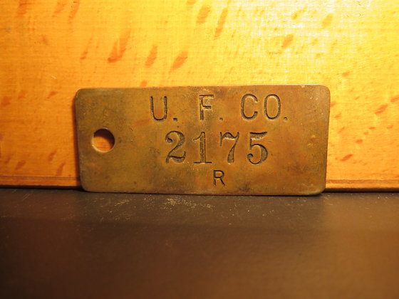 UFCO Brass Inventory Tag 2175