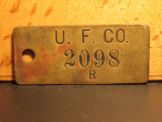 UFCO Brass Inventory Tag 2098