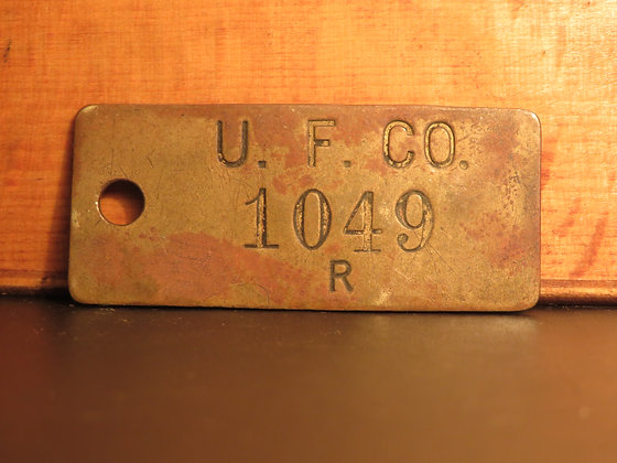 UFCO Brass Inventory Tag 1049
