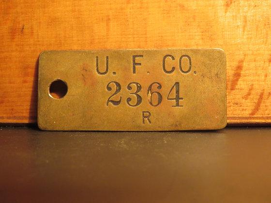 UFCO Brass Inventory Tag E2364
