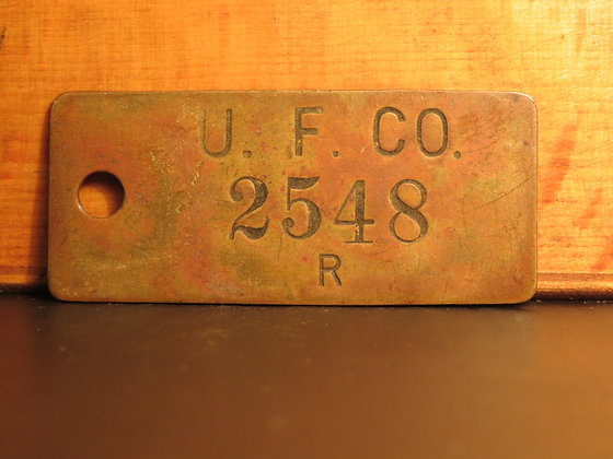 UFCO Brass Inventory Tag 2548