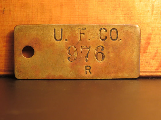 UFCO Brass Inventory Tag 976