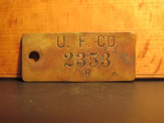 UFCO Brass Inventory Tag E2353