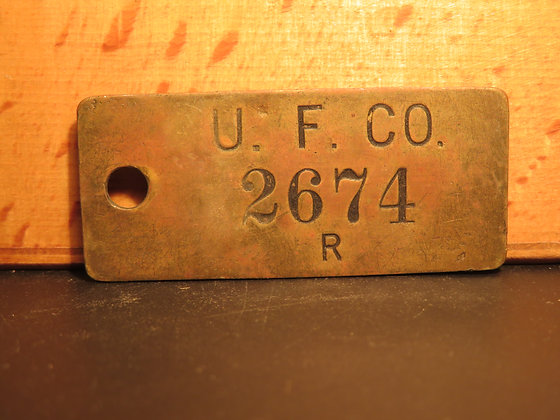 UFCO Brass Inventory Tag 2674