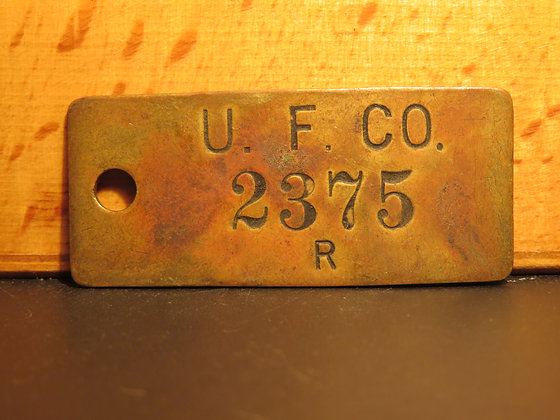 UFCO Brass Inventory Tag 2375