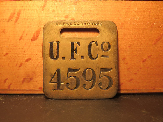UFCO Brass Luggage Tag 4595