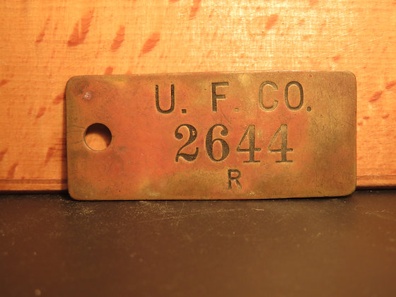 UFCO Brass Inventory Tag 2644