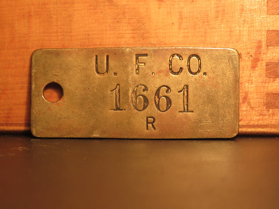 UFCO Brass Inventory Tag 1661