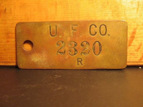 UFCO Brass Inventory Tag 2320
