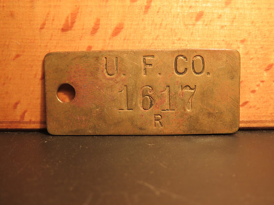 Brass Inventory Tag 1617