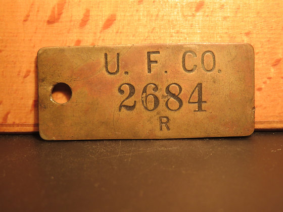 UFCO Brass Inventory Tag 2684