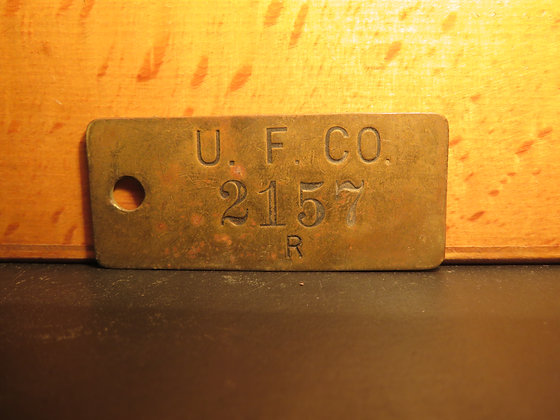 UFCO Brass Inventory Tag 2157
