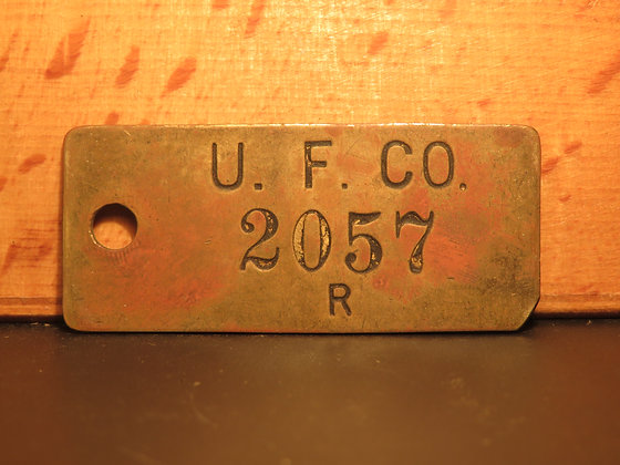 UFCO Brass Inventory Tag  2057