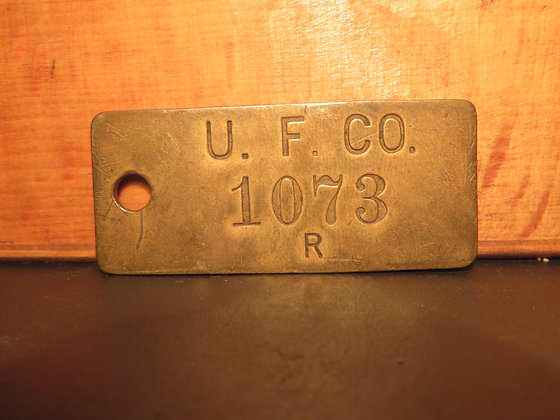 UFCO Brass Inventory Tag 1073