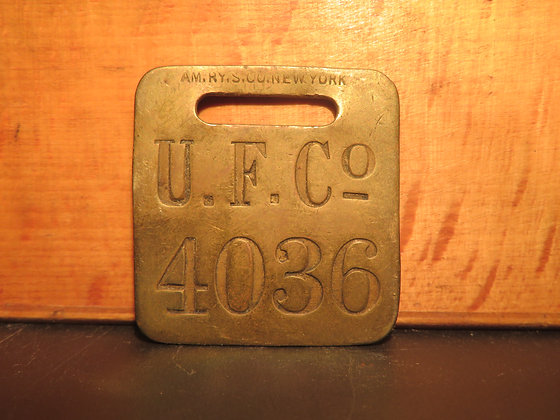 UFCO Brass Luggage Tag 4036