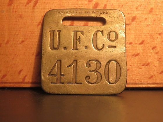UFCO Brass Luggage Tag F4130
