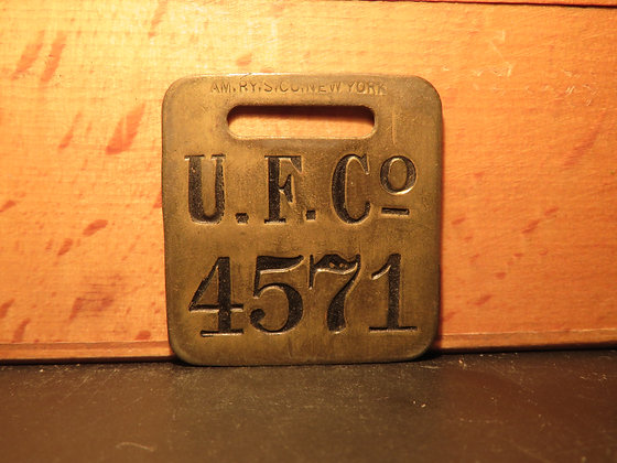 UFCO Brass Luggage Tag 4571