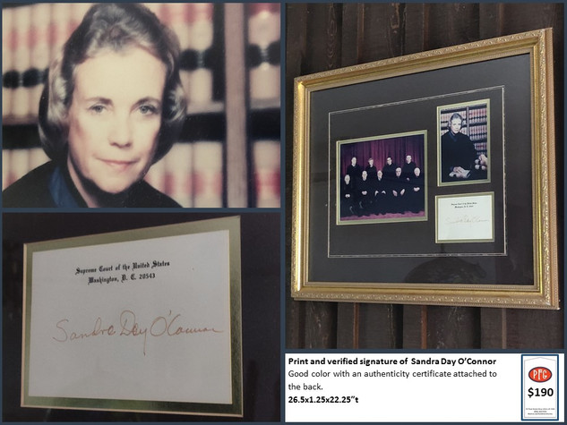 Print and verified signature of  Sandra Day O'Connor $190