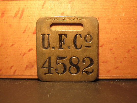 UFCO Brass Luggage Tag 4582