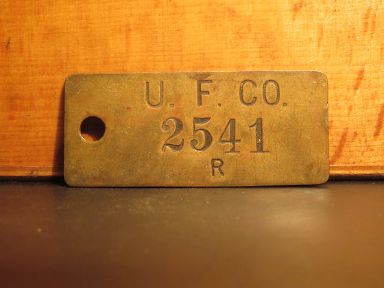 UFCO Brass Inventory Tag E2541