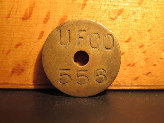 UFCO Round Brass Inventory Tag 556