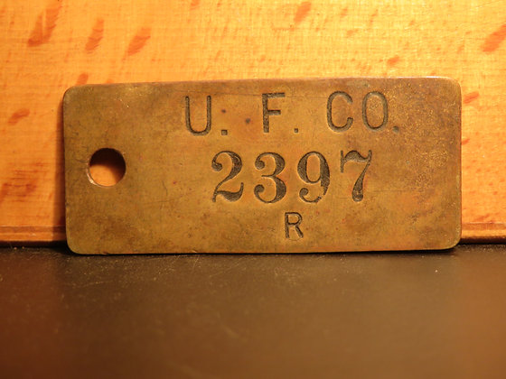 UFCO Brass Inventory Tag 2397