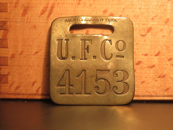 UFCO Brass Luggage Tag F4153